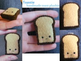 Toastie the Toast Plushie by AzureFalls