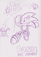 Classic Sonic Win Sketch by JamesmanTheRegenold