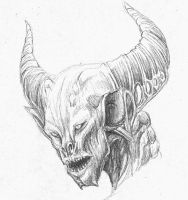 misc horned demon by hibbary