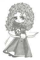Chibi Princess Merida by TifaYuy