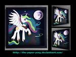 Babscon 2014 Exclusive: Celestia Shadowbox by The-Paper-Pony