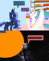 Luna vs Cake by Hakar-Kerarmor