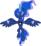 Vector Princess Luna - eclipse of the moon by KyssS90