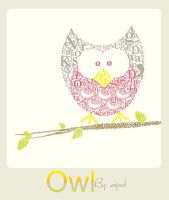 Owl - typography by existence-e