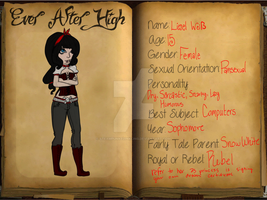 Liesel White Ever After High Application by SteampunkedInkling
