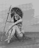Aztec woman work in progress by stariander