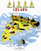 pizza island by 13sticker