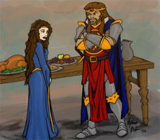 King Arthur and Mary by SilverKitty000