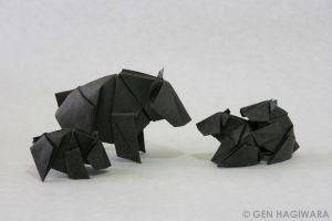 Origami Bear by GEN-H