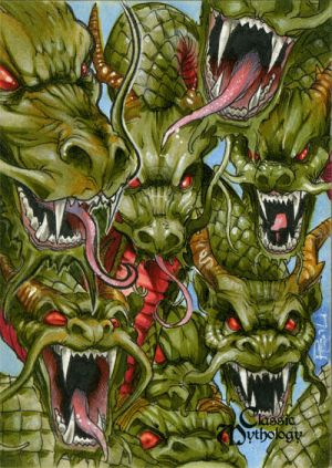 Yamata-no Orochi Classic Mythology Sketch Card