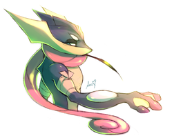 PSD the Greninja by Aishishi