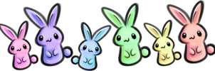 Pastel Bunnies - Lineup 1 by SuzyQ2pie