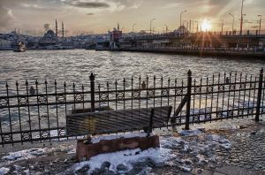 Cold Istanbul Sunset by TanBekdemir