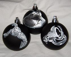 Fifty Shades of Grey Christmas Ornaments by CherriKiss