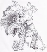 LoBo Vs Savage Dragon by brunnolobo