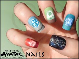 Avatar Nails by Ninails