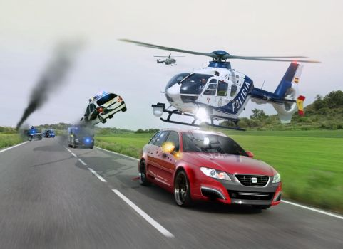 SEAT Exeo vs police, car chase by the-alkspain