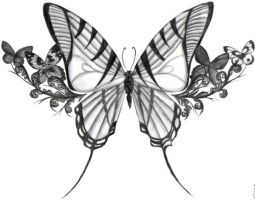 Butterfly Tattoo Design by arynthefox