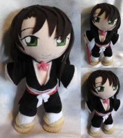 Art Trade!! Mini Plushie Jusace Sakuraba by ThePlushieLady