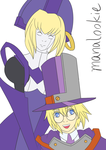 Sketch Swap 46: Ada and Carl Clover (BlazBlue) by ManaLookie