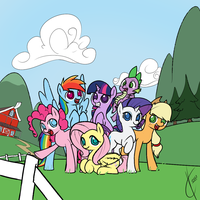 This ranch would make a great GROUP SHOT PLACE. by Dreatos