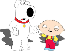 Brian Griffin and Stewie Griffin by Mighty355