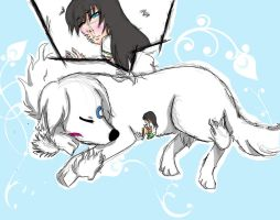 Sesshomaru, The Giant Dog by Xoihana