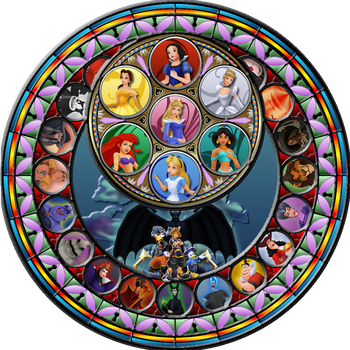 Kingdom Hearts Stained Glass by Maleficent84