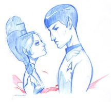 Vulcan Love Sketch by WarBrown