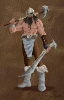 Dungeons and Dragons Barbarian Design by 8comicbookman8