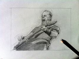 James Hetfield  Metallica sketch by Stew-Illustrations