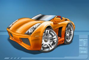 Gallardo Toon Collaboration by nailgungfx