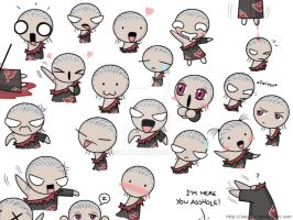 The many faces of Hidan by saurien