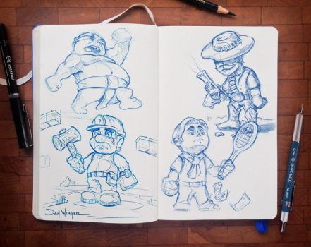 CharacterSketches-02 by WingerDesign