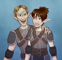 Dalish BBFs by SnuffyMcSnuff