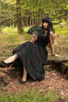 Fee-Tish Stock : Gothic Black Hairs And Dress III by fee-tish-stock