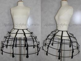 4 rows crinoline skirt by AtelierSylpheCorsets