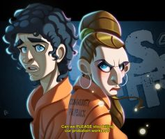 Misfits: Nathan and Kelly by ubegovic
