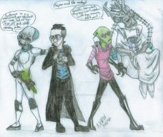 Invader Zim- Destroy All Humans by flying-monkey-army