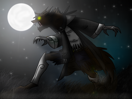 Nighttime Monster by MoonstalkerWerewolf