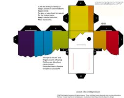 rainbow cubeecraft head by the-broken-0ne