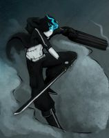 Black Rock Shooter :Male: by Kitsune-95