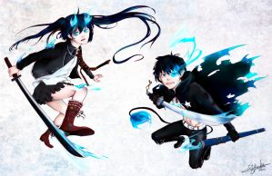 Blue Rock Exorcist by lehanilee