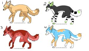 wolf adoptables by Wuhzzles