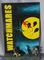 MLP FiM custom blindbag clock: Watchmares! by vulpinedesigns