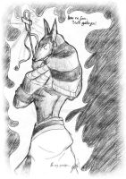 Anubis black and white by uddelhexe