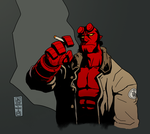 Hellboy (some color) by JNcomix