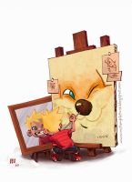 Calvin and Hobbes by JaimePosadas