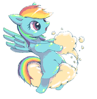 RainbowDash always drifts in the sky by Usappy-BarkHaward