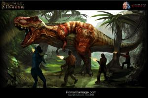 Primal Carnage Rex Promotional Art by Ikechi1